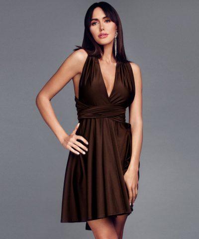 Šokoladinė MULTI suknelė