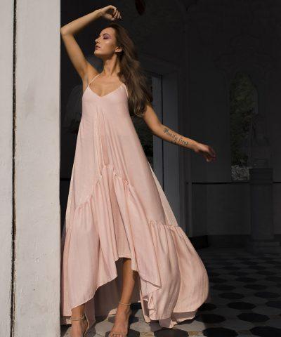 Pink Maxi Convertible Dress