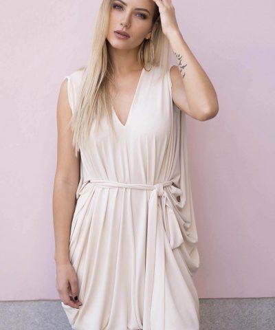 Creme Oversized Dress